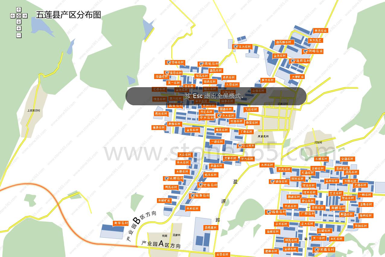 可根据产区地图来进行准确的查找所需企业的位置以及邻里,具体如下