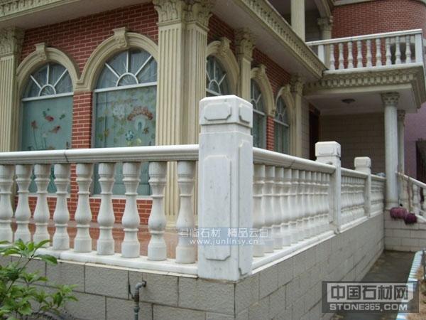广西白别墅住宅楼梯阳台扶手栏杆图片展示,广