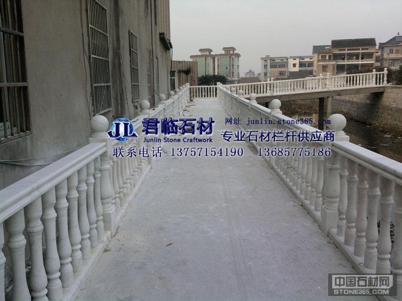 沿河景观桥广西白大理石栏杆扶手